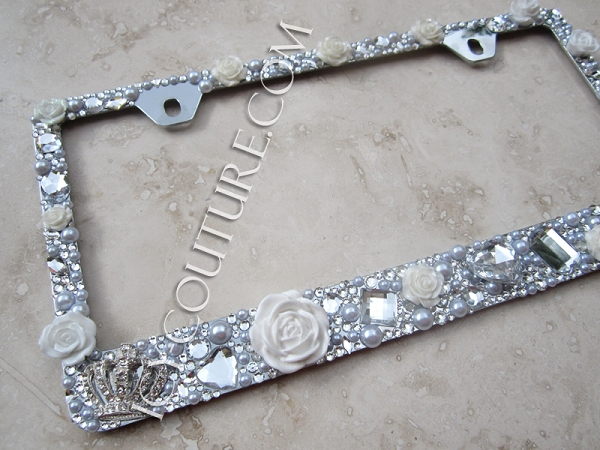 bling license plate frame by icy couture add matching screw caps to complete the look