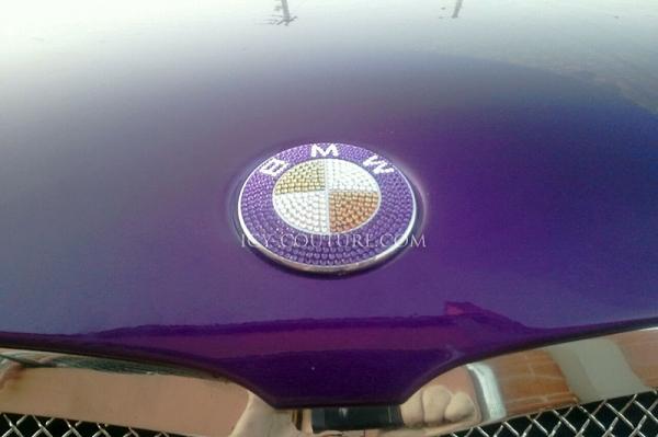 Custom BMW Emblems with Swarovski Crystals - Gold, Pink ...