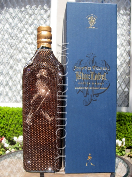 Collector S Item Icy Couture Crystal Bottle Of Johnnie