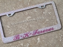 FOREVER - ICY Couture Custom Crystal License Plate Frame