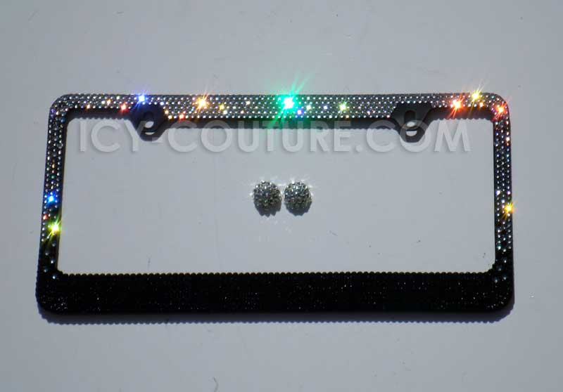 black ombre swarovski crystal license plate frame