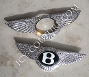 ICY Couture Bling BENTLEY Wings Emblem bedazzled with Swarovski crystals