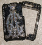 Your Initials - inspired by Christian Audigier- crystallized phone cover