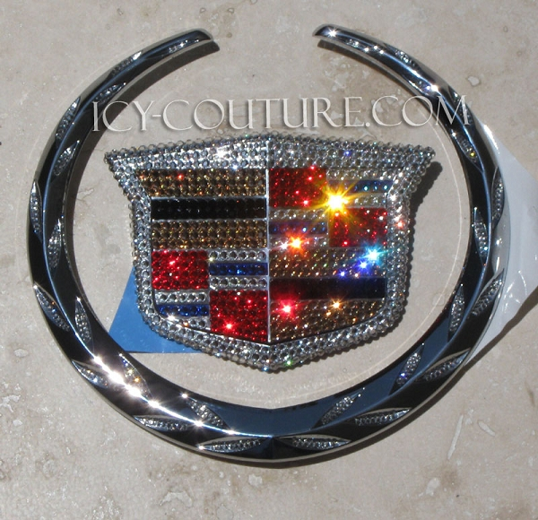 Icy Couture Cadillac Logo Plate