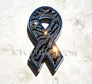 Cancer Awareness Ribbon Crystal Car Emblem. Whats Your Color, or design?