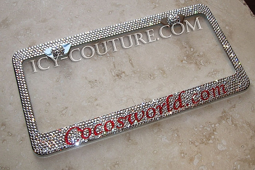 Your Message -Custom Swarovski crystals bedazzled License Plate ...
