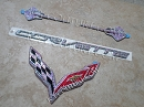 ICY Couture CORVETTE Emblems with Swarovski Crystals. Select Your Set. Whats Your Colors?