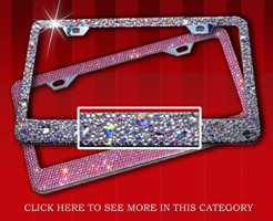 swarovski crystals license plates frames