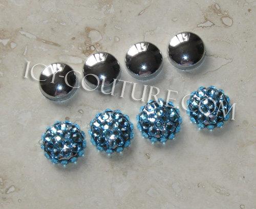 Decorative chrome or crystal screw caps for license plate frames - Decorative chrome plating ...