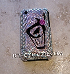 The Frosted Muffin - Swarovski crystallized iPhone 3Gs on durable Metal Case