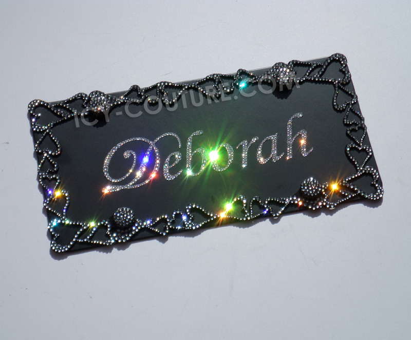 ELEGANT HEARTS - Swarovski Crystal Bling License Plate Frame with ...