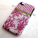 CLASSY DAMASK - ICY COUTURE Swarovski Crystal cell phone cover