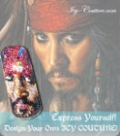 Jack Sparrow  Custom Crystal Phone Portrait - ICY Couture!