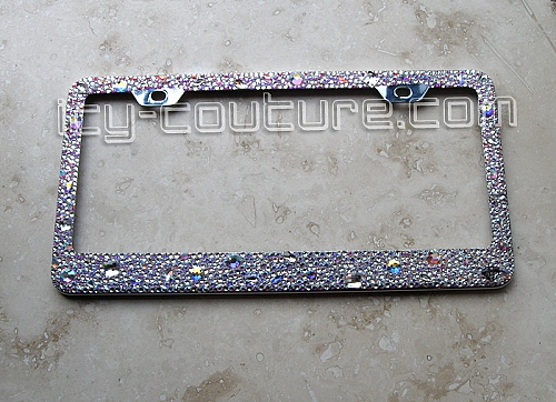 crystal license plate frame crystal ab