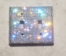 Crystal Clear Double Light Switch Cover Plate. Whats Your Color?