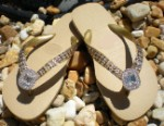 Yellow Diamond ICY Couture Havaianas flip-flops with Swarovski Crystals