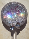 Swarovski BLING Custom Hand Held Mirror with Crystals