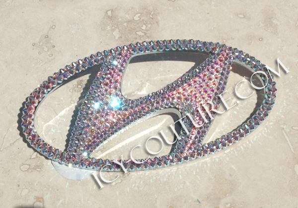 Crystal Bling Hyundai Emblem Most Models