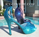 Custom ICY COUTURE Shoes, Bedazzled with Crystals - Whats Your Color?