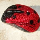 Crystal Bling Lady bug Computer Mouse