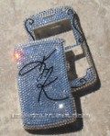 Your Own Signature or Initials Swarovski Crystal Phone Cover. Select Your Model.