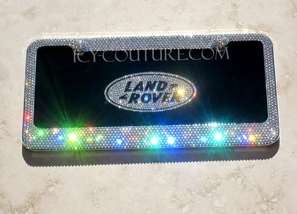 icy couture land roverrange rover black plate