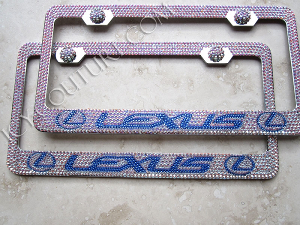 lexus swarovski crystal custom license plate frame whats your colors