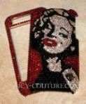 Custom Marilyn Monroe Phone Portrait with Swarovski Crystals - ICY Couture