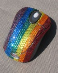 Rainbow Crystal Computer Mouse