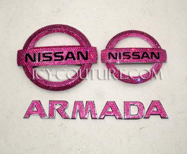 Swarovski Crystal Nissan Emblem Whats Your Color Select