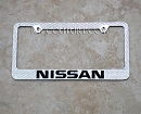 NISSAN Swarovski Crystal License Plate Frame. Whats Your Colors?