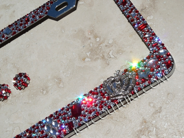 royal old hollywood swarovski elements license plate frame