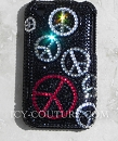 Peace Pattern - Swarovski Crystals Bling phone cover by ICY Couture