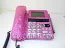 CRYSTAL ROSE ICY Couture Crystal Office Phone