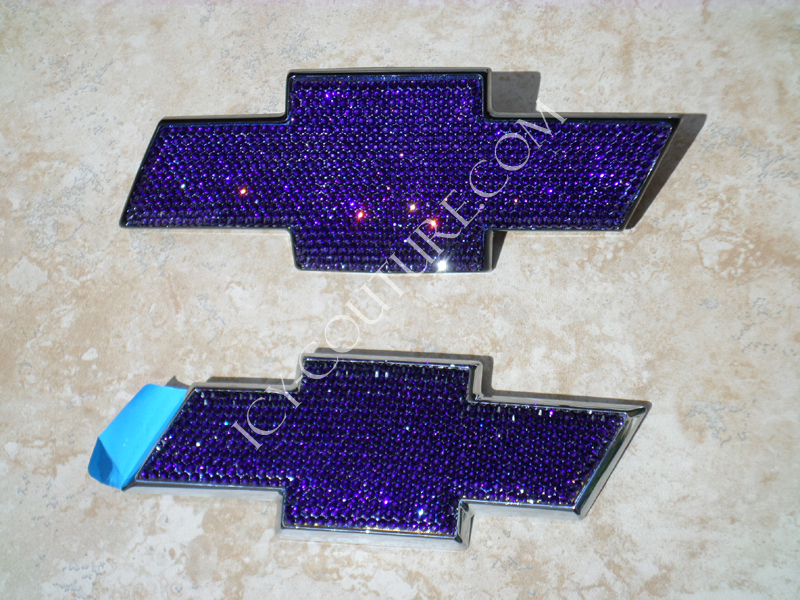 Custom Initial Bling Chevy Emblems What Your Color Bedazzled With