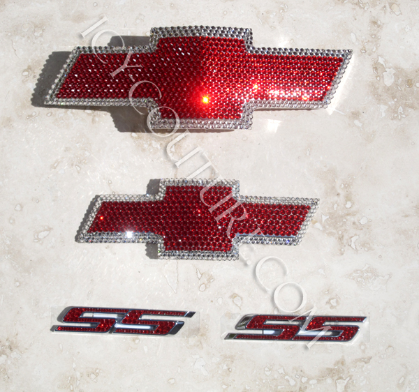 Swarovski Crystals Chevy Camaro Emblems Whats Your Color Select
