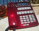 ICY Couture DEEP RED Swarovski Crystal Home Office Desk Phone.