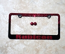 CUSTOM NAME on RED & BLACK OMBRE Fade Swarovski Crystals License Plate Frame