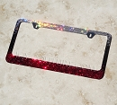 ICY ROCK CHICK License Plate Frame with Swarovski Crystals