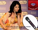 SELENA GOMEZ rocks out ICY COUTURE Crystal Microphone Bedazzled with Swarovski crystals