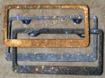ICY Signature Swarovski crystal License Plate Frame, solid color of your choice.