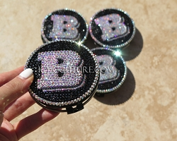 Custom Bentley Center Wheel Rim Caps Swarovski Crystals