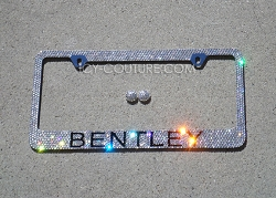 BENTLEY License Plate Frame Swarovski Crystals. Whats Your Colors?