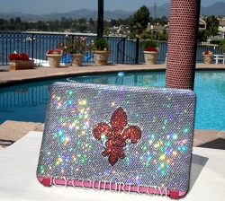 Your Logo Here ICY COUTURE bedazzled Laptop Crystal Cover Case