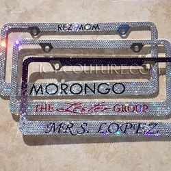 Custom Message Swarovski Crystals License Plate Frame & Superior Quality License Plates \u0026 Frames with Swarovski Crystals ...