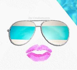 Super Stylish SHADES Aviators with Swarovski Crystals