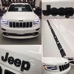Crystal Bling JEEP GRAND CHEROKEE Emblems! Select Your Crystal Set.