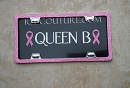 QUEEN B -  Custom License Plate with Swarovski Crystals