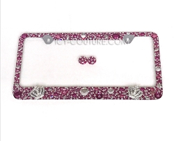 QUEEN OF EVERYTHING License Plate Frame Swarovski Crystals