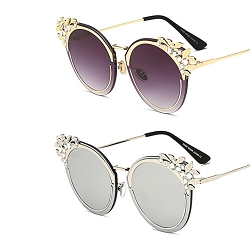 SLAY Collection Crystal Cateye Sunnies